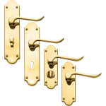 Chrissi Brass Door Handles