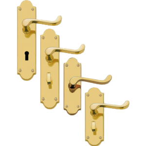 Scroll Levers On Shaped Back Plate Door Handles