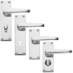 Bertelli Victorian Door Handles Polished Chrome