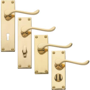 Victorian Scroll Brass Handles