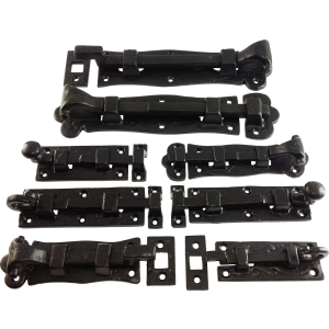 Black Antique Door Bolts