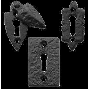 Black Antique Key Hole Escutcheons