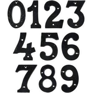 Black Antique House Numbers