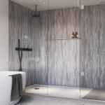 Blue Toned Stone Gloss Showerwall