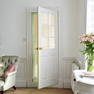 Canterbury Six Light Glazed Doors White