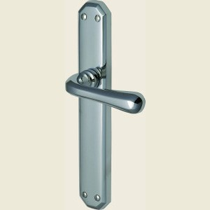 Charlbury Polished Chrome Long Plate Door Handles