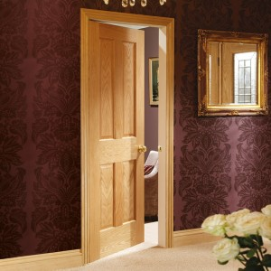 Victorian Classic Four Panel Oak Doors