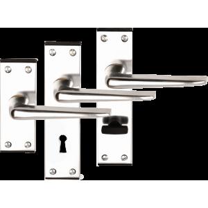 Crofton Polished Aluminium Door Handles