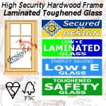 Caterham Design 24 Secure Hardwood Metric Casement Windows Laminated Toughened Glass