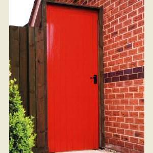 FLB Redwood Utility Doors