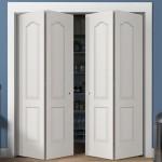 Four Panel Arch Top Textured Bi Fold Doors