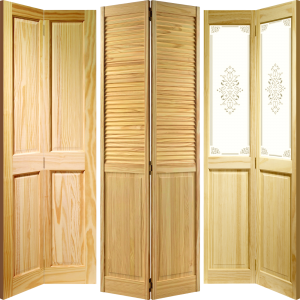 Clear Pine Four Panel Bi Fold Doors