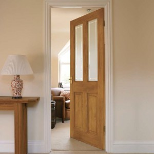 Four Panel Pine Two Light Glazed Doors