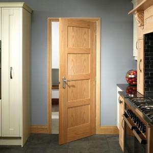 Oak Contemporary Four Panel Doors