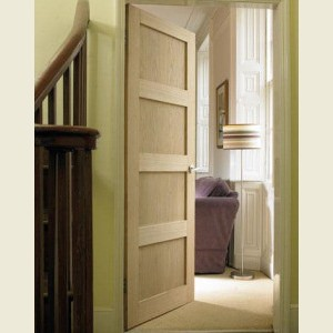 Four Panel Contemporary Oak Doors