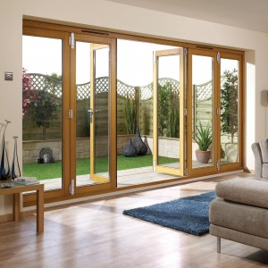Pre Finished Oak Folding Sliding Door Sets