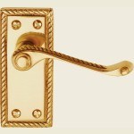 Georgian Scroll Brass Door Handles