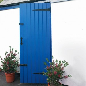 LB Redwood Utility Doors