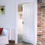 White Primed Solid Lincoln Three Panel Doors