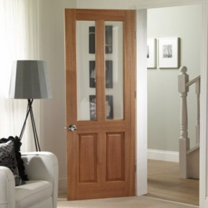 Malton Hardwood Doors Clear Bevelled Glass