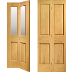 Oak Four Panel Bi Fold Doors