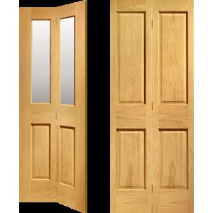 Oak Four Panel Bi Fold Doors