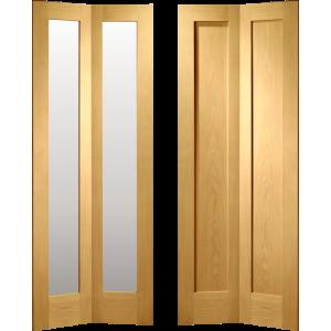 Oak Pattern Ten Bi Fold Doors