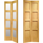 Four Panel Oak Shaker Bi Fold Doors