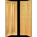Contemporary Oak Solid Bi Fold Doors