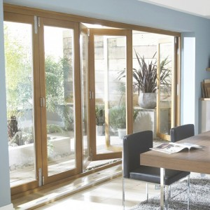 Ext Solid Oak Folding Doors
