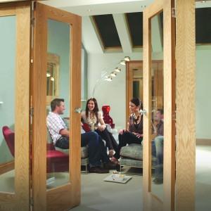 Pattern Ten Glazed Oak Folding Room Dividers