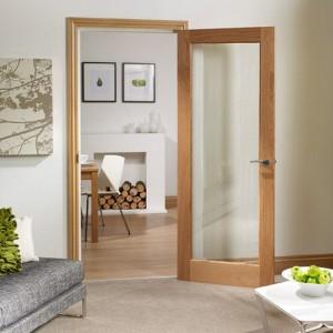 Walden Pattern Ten Glazed Oak Doors
