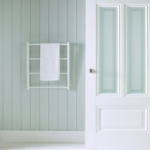 Peony Silk Screen Glass Doors White