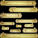 Polished Brass Straight Barrel Bolts