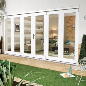 Pre Finished White Folding Sliding Door Sets