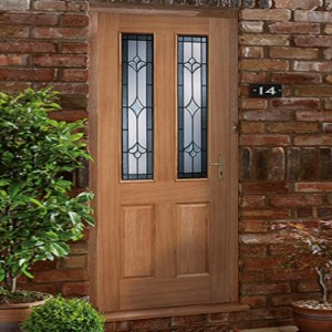 Salisbury Oak Glazed Doors