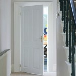 White Primed Solid Canterbury Four Panel Doors