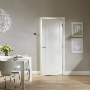 Solid White Primed Interior Doors