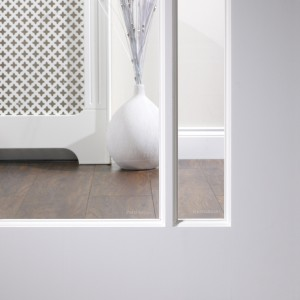 Solid White Primed Glazed Interior Doors