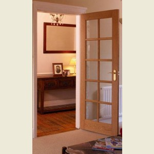 Ten Light Glazed Oak Doors