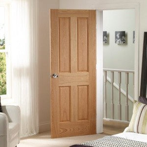 Bury Two Light Four Panel Oak Doors