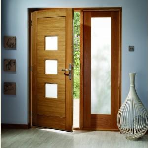 Turin Oak MT Doors Obscure Glazing