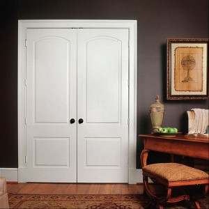 Two Panel Arch Top Textured Door Pairs
