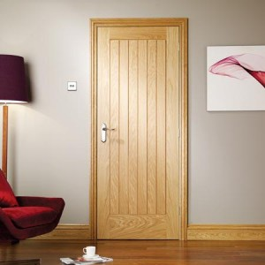 Attractive Chepstow Internal Vertical Five Panel Oak Doors