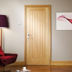 Internal Vertical Five Panel Oak Doors