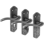 Wentworth Pewter Door Handle Sets