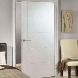 & White Primed Florida Five Panel Doors