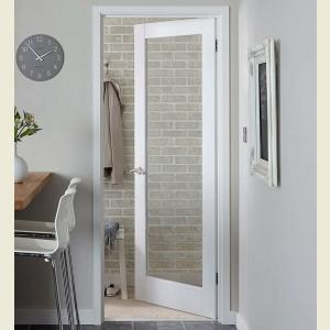 White Primed Glazed Pattern Ten Shaker Doors