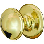 Round Dome Centre Door Knob Polished Brass