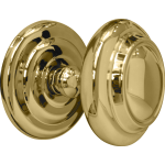 Sloane Large Centre Door Knob Polished Brass